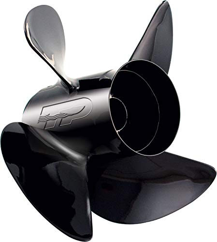 "Turning Point Propeller 3004.8290 21431930 Hustler 4-Blade Aluminum Propeller for 40-150 HP Engines with 4.25"" Gearcase-13 x 19"", Right Hand Prop LE1/LE2-1319-4"