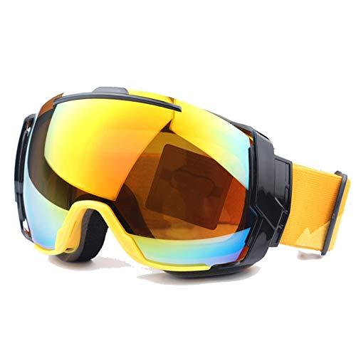 EnzoDate Gafas de esquí UV400 Lentes Anti - Niebla con día Soleado y Nublado día Opciones de Lentes, Snowboard Gafas de Sol Gafas Desgaste en RX (Azul)