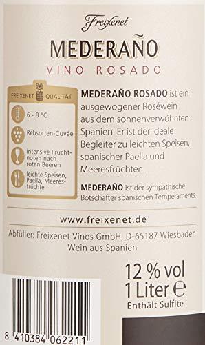 Mederaño Rosado Wein (6 x 1l) l Cuvée l halbtrocken l fruchtig leicht l für gemütliche Abende mit Freunden - 6