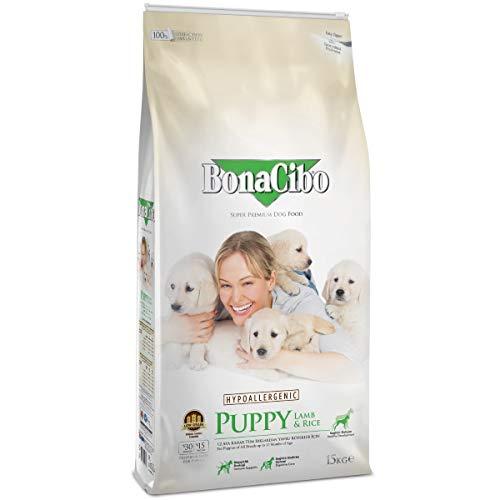Bonacibo Junior Lamm und Reis | Super Premium Hundetrockenfutter für Welpen Aller...