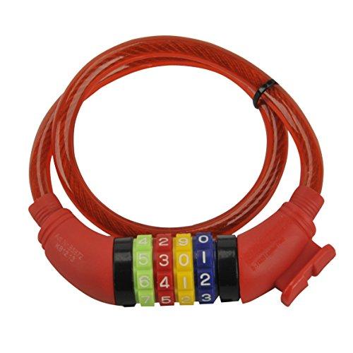 Fischer, kabelslot voor kinderen, rood, lengte: 60 cm