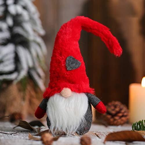 BSTQC Faceless Doll Decoration Christmas Forest Old Man Love Doll Lovely Durable Holiday Decoration for Bookshelf Desk Bedside