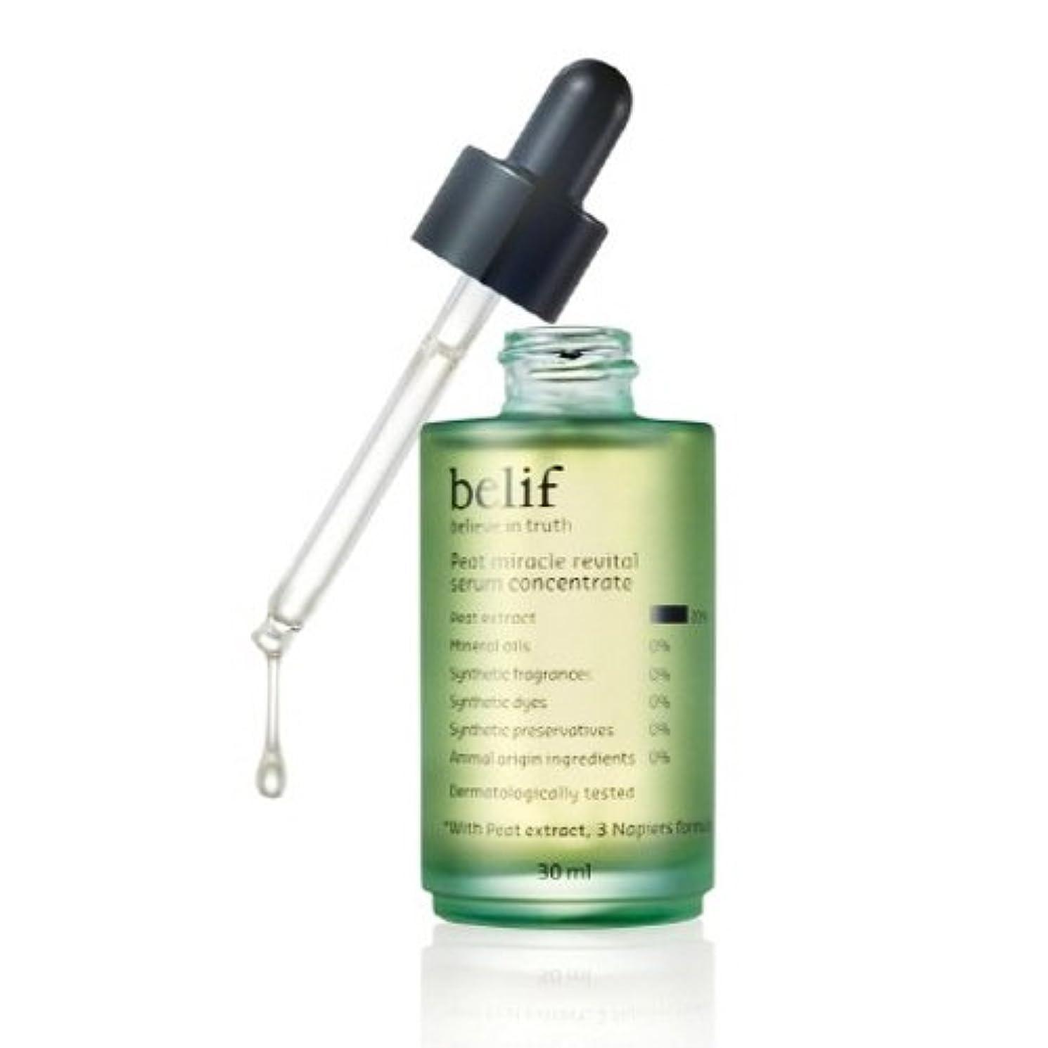 文房具責任者雇用者Belif(ビリーフ)Peat miracle revital serum concentrate 30ml(ビリーフフィートミラクルリバイタセラムコンセントレイト)シワ改善エッセンス