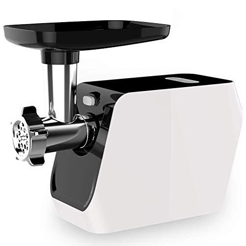 Haushalt und Gewerbe Elektro-Fleischwolf und Wurstmaschine Zwirnmaschine 500 Watt 2 Schleifscheiben und 1 Klistierschlauch -von (Farbe: Schwarz und Weiß) ggsm (Color : Black Plus White)