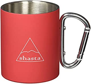 shasta マグカップ レッド 300ml シャスタ ラバーコートカラビナマグ カラー TWS-C-009RD