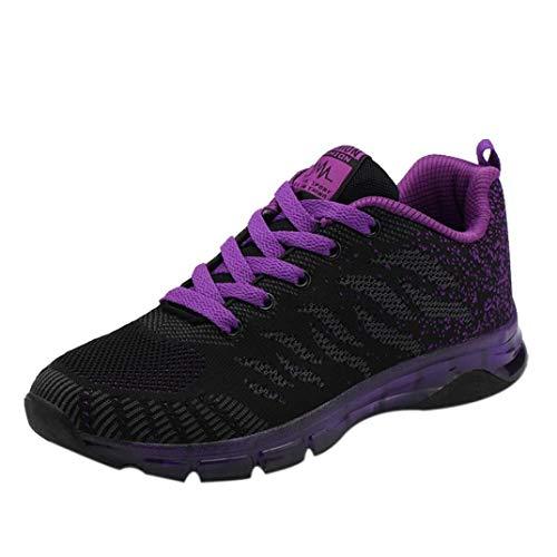 Covermason Zapatos Zapatos para correr mujer, punto Zapatos para correr con cojines de aire