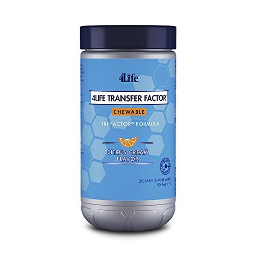 4Life - Transfer Factor Chewables Tri-Factor Formula - Citrus Cream Flavor - 90 Chewable Tablets