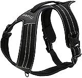 Arnés para perros Truelove TLH5551 que evita tirones con apertura en cuello acolchado y suave, material reflectante 3M, capa externa resistente Oxford para perros mayores