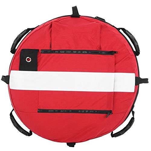 Equipo De Entrenamiento De Esnórquel De Pesca Submarina con Bola Flotante Inflable De Apnea Superficie De Agua Tabla Flotante Rojo