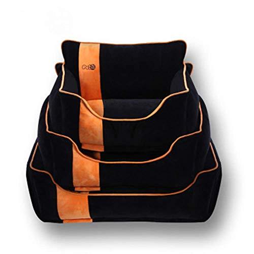 Cama for perros Mantener Caliente perro o gato Cama Salón sofá cubierta extraíble 100% Ante memoria colchón Fácil mantenimiento de la máquina de lavado perro de peluche cama (Color: Marrón, tamaño: M)