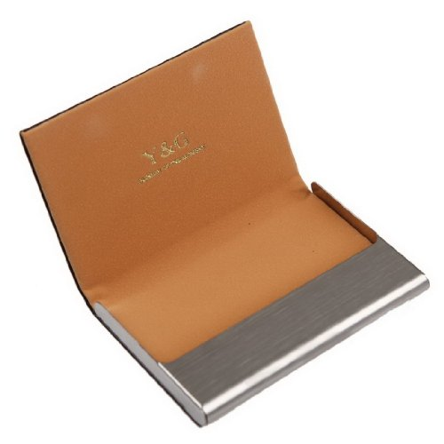 Y&G CC1015 Excellent Business Card Case Price Card Holder Black Leather PU Card Case Best For Father