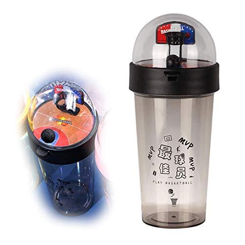 """Botella de Agua de Baloncesto """"I Am MVP"""" ,500ml/17oz Drink Bottle For Kids Niños Estudiantes ,A Prueba de Fugas,Sin BPA, Botella Bebidas Viajes Deportes Negro"""