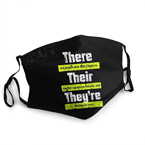 Mundschutz Mouth Cover Face Cover Funny English Teacher Grammar Reusable Washable Face Shield