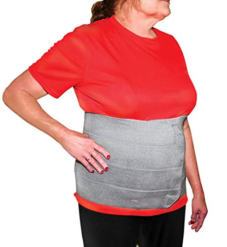 StrictlyStability 4XL Plus Size Bariatric Abdominal Binder | Hernia Support | Post Surgery Tummy & Waist Compression Wrap | Obesity Girdle Belt for Big Men & Women (4XL)