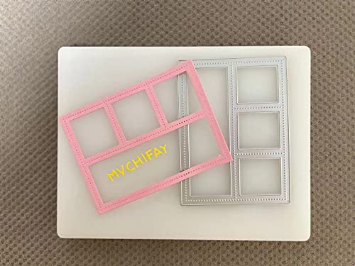 Mvchifay Cutting Dies Metal Stencils Scrapbooking Tool DIY Craft Carbon Steel Embossing Template for Paper Card Making (Rectangle Window- ONLY Sold by XKAI Storefront)