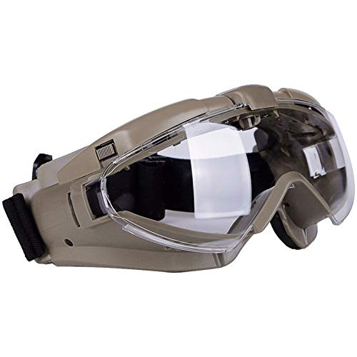 Tactical Schutzbrillen Schlagfeste Antibeschlag Schutzbrille mit Ventilator für Airsoft Paintball Wargame Radfahren