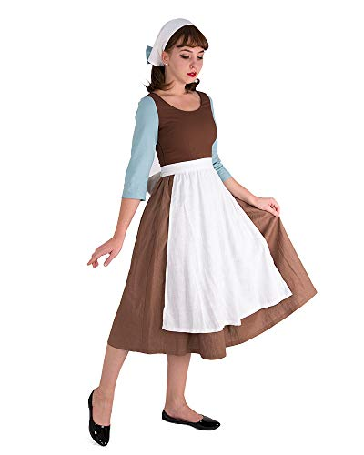 Cosplay.fm Women's Cinders Cosplay.fm Women's Cinders Rags Peasant Costume Maid Dress Cosplay Rags Costume Maid Dress Cosplay (S)