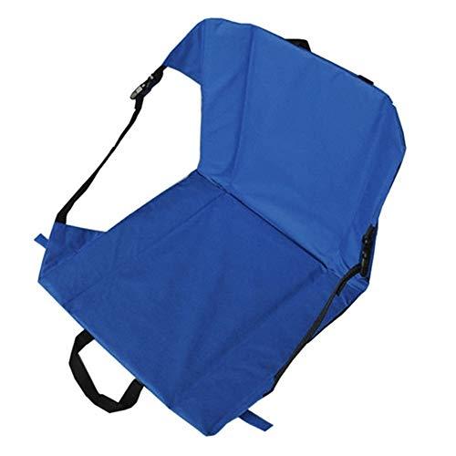 Generic Brands Nappe de Pique-Nique Extérieur Pliable Camping pêche Seat Mat Portable Berceuse Coussin Coussins Chaise imperméable avec arrière for Voiture Stadium (Couleur : Blue)