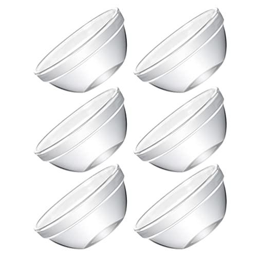 HEMOTON 6 Cuencos de Cristal Pequeños Cuencos de Cristal Transparente para Pudín Cuencos de Cristal para Preparar Ensaladas Cuencos de Postre para Fiestas de Cumpleaños en Casa 6X3CM