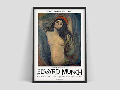 Plakat, Staatsgalerie Stuttgart, Plakat des Munch Museums, Ausdruck, Kunstdruck rahmenloses Leinwandbild A 30x40cm