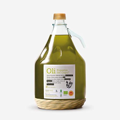 Aceite de Oliva virgen extra - Garrafa de vidrio de 3 Litros Ecológico