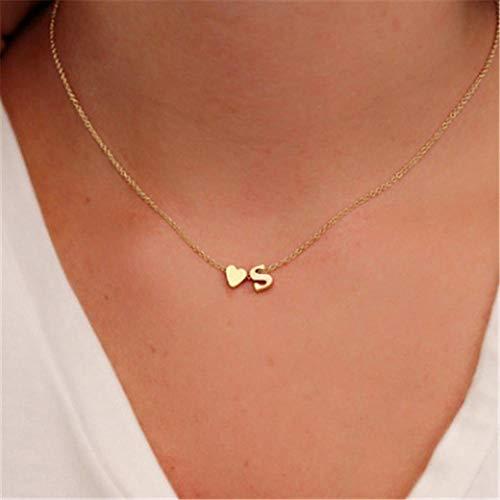 Jovono - Collar moda colgante letra S mujeres niñas