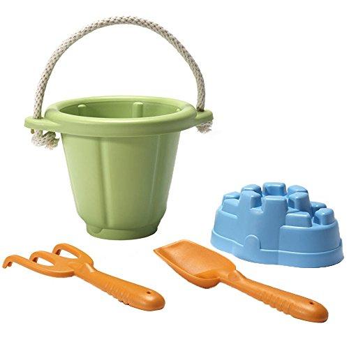 Green Toys SND01R - Sandspiel-Set,  4-teilig, grün