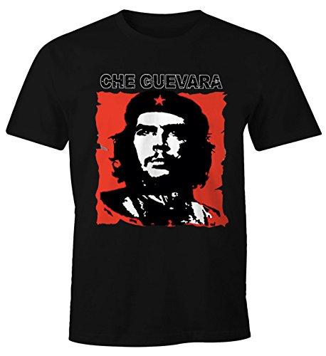 MoonWorks MoonWorks Herren T-Shirt Che Kuba Guevara Revolution Fun-Shirt schwarz S