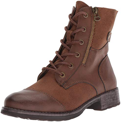 Dirty Laundry by Chinese Laundry Women's Tilley Combat Boot, Cognac Canvas, 8.5 M US