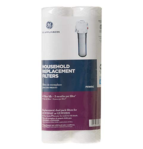 General Electric FXWSC Household Replacement Filters, White, 10.00 x 2.60 x 5.20 inches