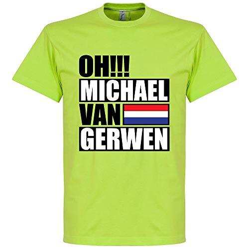 Oh Michael Van Gerwen T-Shirt - Apfelgrün - XXL
