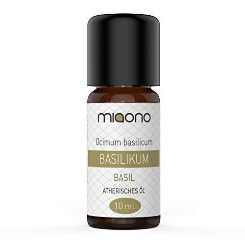 Basilikumöl - 100% naturreines, ätherisches Öl (10ml) von miaono (Glasflasche)