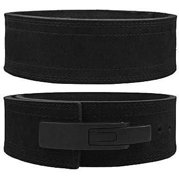 Hawk Sports Lever Belt Black Genuine Leather Powerlifting Men & Women Power Lifting 10mm Weightlifting Belt!  Black Medium
