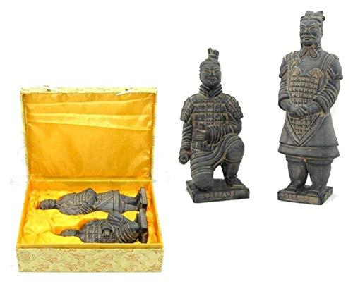 WQQLQX Statue Terrakotta-Krieger-Skulpturen, chinesische Terrakotta-Krieger Statuen Zen Tempel Krieger Vintage Soldat Modell Handwerk Figuren Skulpturen