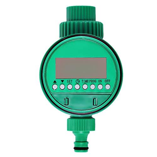 RONSHIN Temporizador de riego de jardín con válvula de bola automática electrónico de agua temporizador de riego para el hogar y el jardín