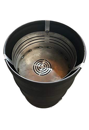 A. Weyck Tools Feuerschale Feuerkorb für Feuertonne Stahlfass Feuerkorb Feuerplatte Grill BBQ