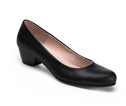 zeddea Servicio Negro - Zapatos de azafata cómodos para Mujer -Talla 38