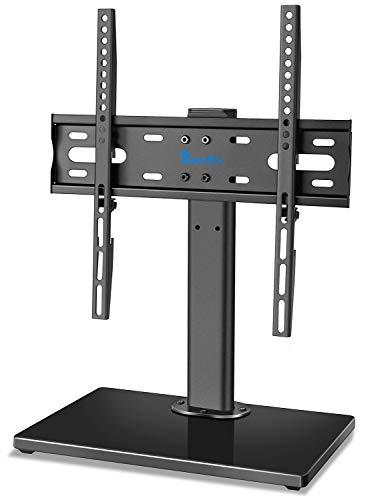 Base Genérico de Televisores/Base Giratoria Tipo Sobremesa con Soporte para Televisores de Pantalla Plana y Curvada de Plasma LED LCD de 32-55 Pulgadas, Reemplazo de Base de TV con Altura Ajustable