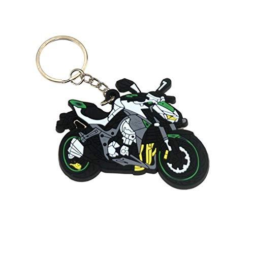 Julo Motorradzubehör Motorrad Keychain Gummi Motorrad Schlüsselanhänger Lokomotivmodell