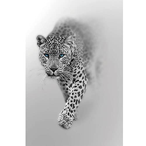 3D Fensterfolie Selbstklebend Mattweißes braunes Tier Leopard Blickdicht Sichtschutzfolie Fenster Milchglasfolie Statische Fensterfolien Anti-UV Folie Für Zuhause 90x200 cm