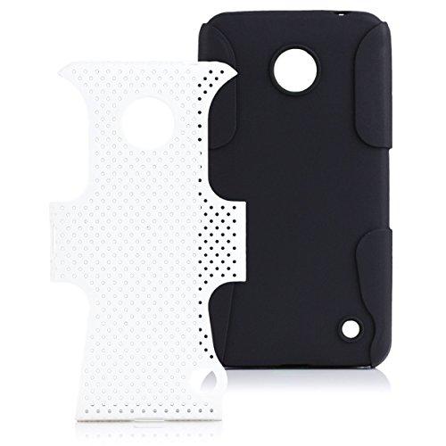 iCues - Custodia compatibile con Nokia Lumia 630/635, 2 parti Air White   [pellicola protettiva inclusa] resistente cover rigida antiurto protezione militare ragazzi a prova di vita uomini