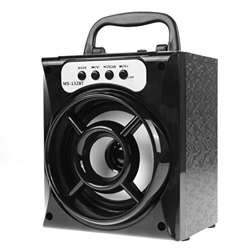Ballylelly MS-132BT Altavoz para Exteriores Super Bass con USB/TF/AUX/FM Radio Tarjeta de Radio inalámbrica portátil Altavoz Potente