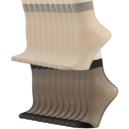 Fine Nylon Socks For Women Incher Silk Reflections Ankle High Tights Hosiery Stockings Sheer Short Socks Hosiery Womens 20 Pairs Grey Inzonedesignstudio Interior Chair Design Inzonedesignstudiocom