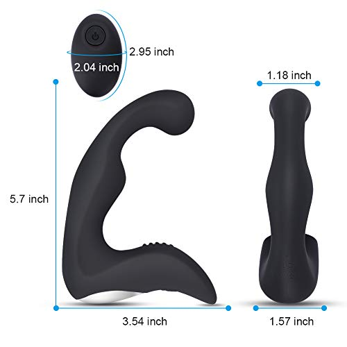 Honey Adult Play Mens Vibrating Prostate Massager with 9 Anal Vibrator Modes & Wireless Remote, Unisex Anal or G spot Pleasure, Black