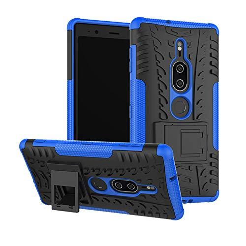 betterfon | Sony Xperia XZ2 Premium hülle Outdoor Handy Tasche Hybrid Hülle Schutz Hülle Panzer TPU Silikon Hard Cover Bumper für Sony Xperia XZ2 Premium Blau