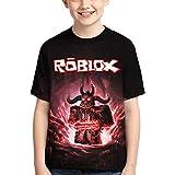 HERSESI Kids T Shirts Children Fashion Short Sleeve Tops Tee Shirt for Boys Girls 4-S