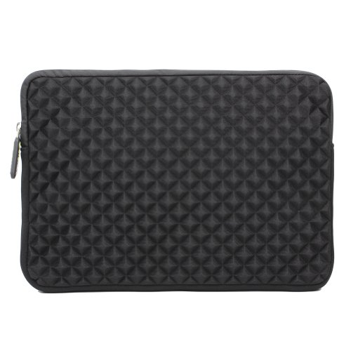 evecase Laptophülle, Universal Neopren Anti-Schock Laptop Schutzhülle mit Rautenmuster/Diamant-Muster Schaumpolsterung für 11,6-12,5 Zoll Laptops Tablets Macbooks Notebooks Chromebook - Schwarz