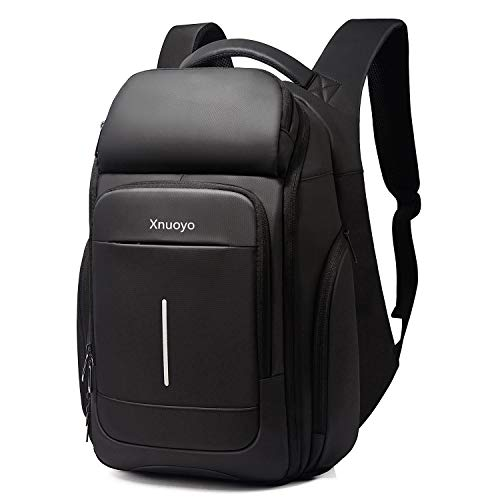 Xnuoyo TSA Friendly Laptop Backpack, 15.6in Travel Computer Rucksack Water-Repellent School Backpack with Thermostatic Bag & RFID Pockets Anti-Theft Casual Daypack for School/Business/Work/Men/Women