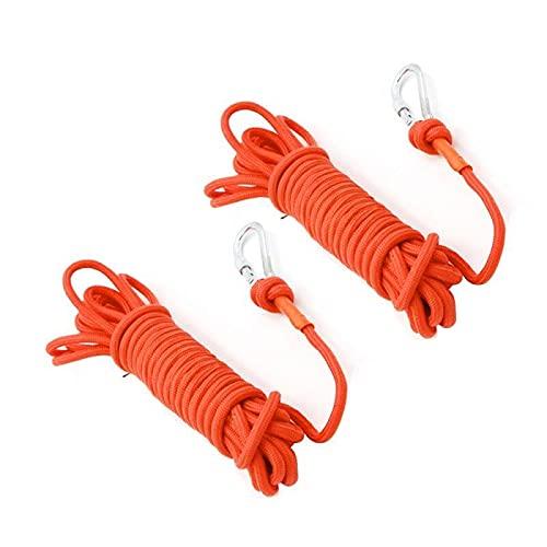 Corde Escalade,Corde D'Escalade 30m cordon d'escalade noyade de sauvetage corde d'escalade corde d'alpinisme boucle de sécurité corde de sécurité flottation outils de sauvetage ( Color : 6mmx10M )
