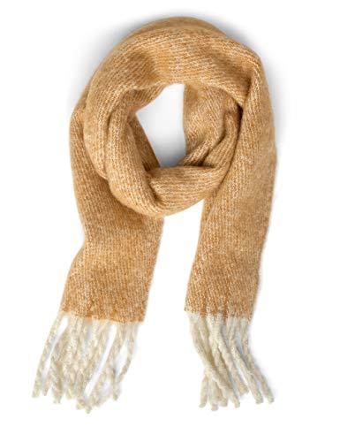 Street One Damen 570997 Schal, Mehrfarbig (Strong Camel 21983), One Size (Herstellergröße:A)